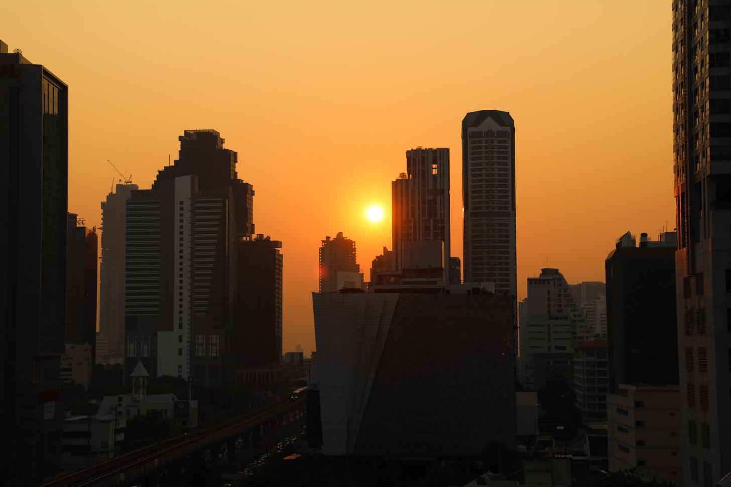 Zonneschijn in Bangkok